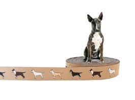 1m Bullterrier Webband Hund, 20mm breit