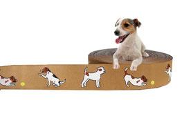 """1m Webband """"Parson / Jack Russell Terrier"""" Borte Hund, 20mm breit, beige"""