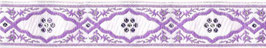 1m Medaillon lila-weiß, 25mm breit