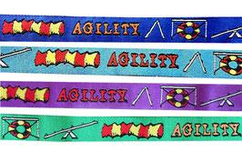 1m Agility Webband Borte Hund, 16mm breit, 4 Farben