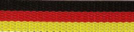 Mustergurtband Deutschland schwarz-rot-gold, 25mm breit
