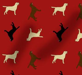 Labrador Hunde Stoff, Baumwoll-Jersey, viele Farben