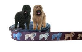 """1m Webband """"Briard"""" oder """"Gossi"""" Borte Hund, 20mm breit"""
