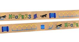 1m Hoopers Agility Webband Borte Hund, 20mm breit, beige