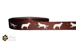 1m Weißer Schweizer Schäferhund Borte Hund, 22mm breit