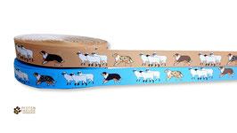 1m Aussie hütet Schafe, Webband oder Ripsband, Borte Hund