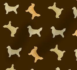 Golden Retriever Hunde Stoff, Baumwoll-Jersey, viele Farben
