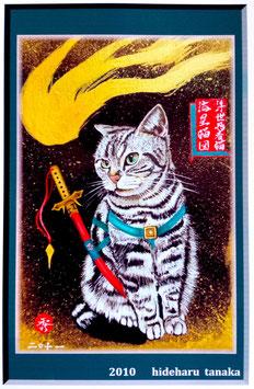 浮世忍者猫 流星猫図