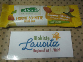 Allos Bio Fruchtschnitte Banane Mandel 30g