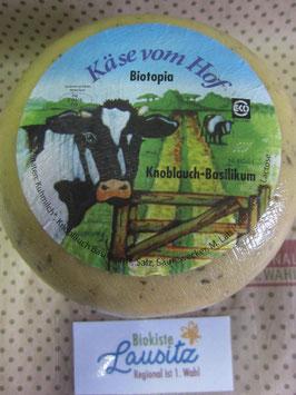 Bio Gouda Basilikum Knoblauch ca. 1 kg Laib (17,90 € / kg)
