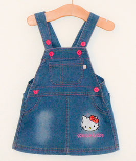 "Denim Latzrock ""Hello Kitty"""