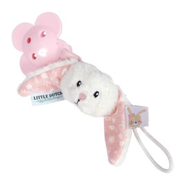 Little Dutch Schnullerkette Hase adventure pink