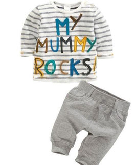 "2-teiliges Set ""My mummy rocks"" Sweatshirt + Hose"