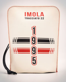 "Pochette in eco-pelle ""Imola Tracciato 22"" Bauletto Hydro Eco-Leather Bag Unisex"