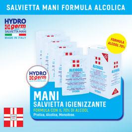 Salvietta umidificata igienizzante al 70% di alcool per la pulizia profonda delle tue mani