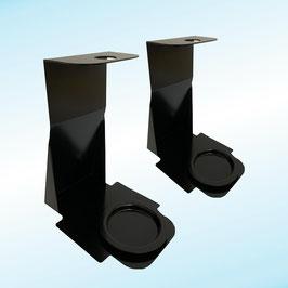 Metal counter support for hand sanitizing gel dispenser