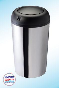 """Esclusiva Pattumiera """"No Touch"""" edizione Montecarlo da 50 litri con sensore termico in Acciaio inox AISI 430 con finitura brillante"""