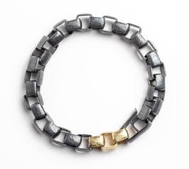 Massives unisex Silber- & Goldarmband by Heather Guidero