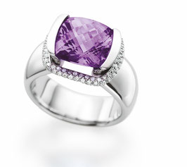 """Purple Rain"" Ring by Christian Stockert"
