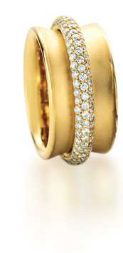 """""""TWO"""" Diamant Ring by Christian Stockert"""