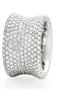 """The ONE"" Brillant Pavé Ring by Christian Stockert"