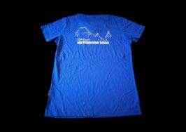 T-Shirt blau Damen