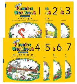 Jolly Phonics Workbook 1-7セット