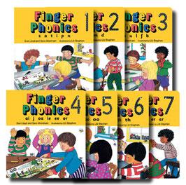 Jolly Phonics Finger Phonics 1-7セット