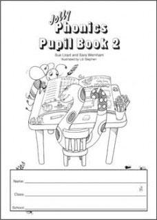 Jolly Phonics Pupil Book 2(B&W)UK半筆記体JL632