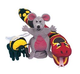 Jolly Phonics Puppets - set of 3 JL200