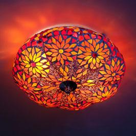 Oosterse Plafondlamp Rood/Oranje  Meloen