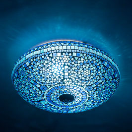 Oosterse Mozaïek Plafondlamp Blauw