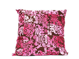 patchwork kussen pink