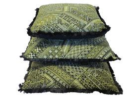 Oosters Design kussen Groen/Zwart