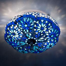 Oosterse Plafondlamp Meloen Blauw