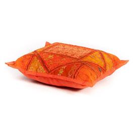 Patchwork kussen Oranje