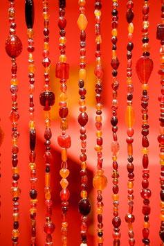 Oosters Kralengordijn Rood/Oranje