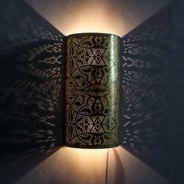 Oosterse Filigrain Wandlamp Halve Cilinder