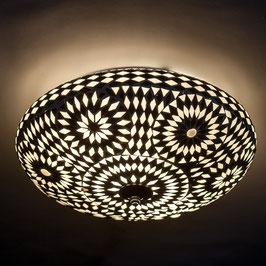 Oosterse Mozaïek Plafondlamp Zwart/Wit