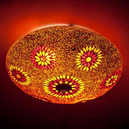 Oosterse mozaïek Plafondlamp Rood/Oranje