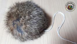 Kaninchen-Fellbommel braun