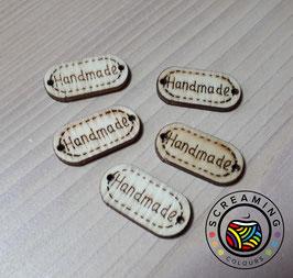 Label 'Handmade' Holz
