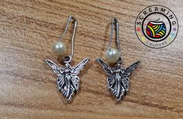 Maschenmarkierer Fee mit weißer Perle