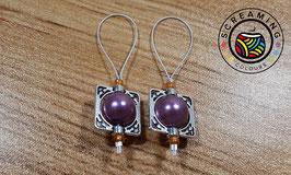 Maschenmarkierer Perle Lila