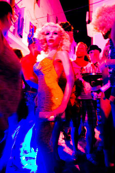 IBIZA coloured Amanda Lepore