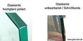sollen die Glaskanten poliert werden ?