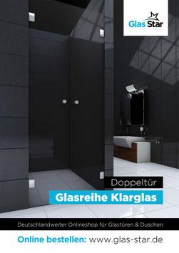 """""""Doppel-Tür im Klarglas-Ausführung"""""""