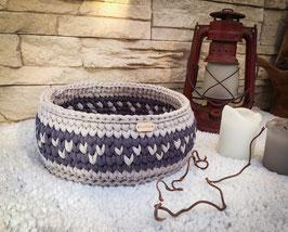 Handgemachter Häkelkorb aus Textilgarn