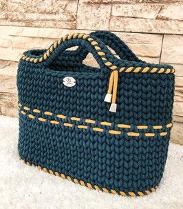 Tasche RETRO, handgemacht aus 100% recyceltem Baumwollgarn