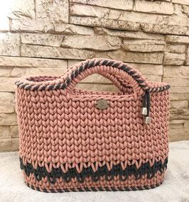 """Tasche """"Fiona"""", handgemacht aus 100% recyceltem Baumwollgarn"""